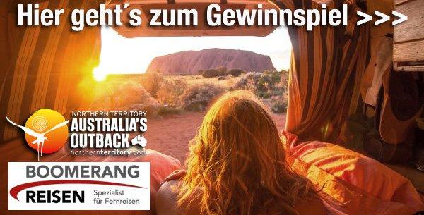 Gewinnspiel mit Boomerang Reisen, Tourism Northern Territory und Unterwegs